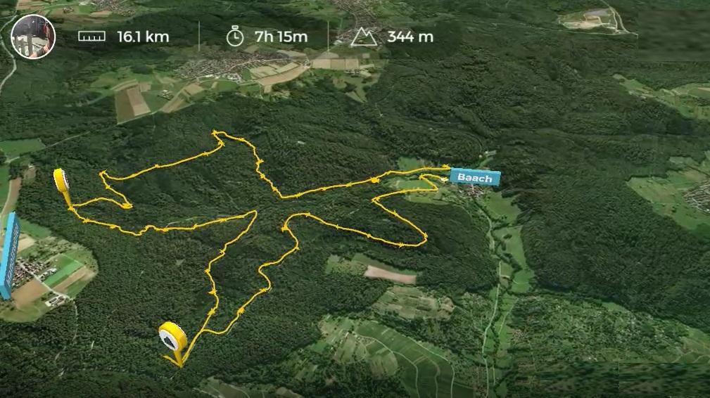16km in 7h in Baach