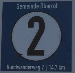 Oberroter Wanderweg 2